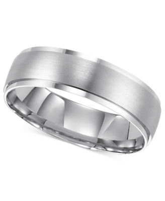14k White Gold Ring, 6 mm Comfort Fit Band (Size 8.5-13)