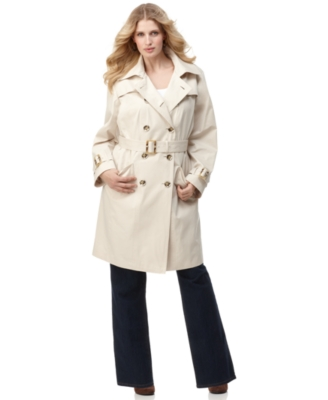 London Fog Plus Size Coat, Trenchcoat