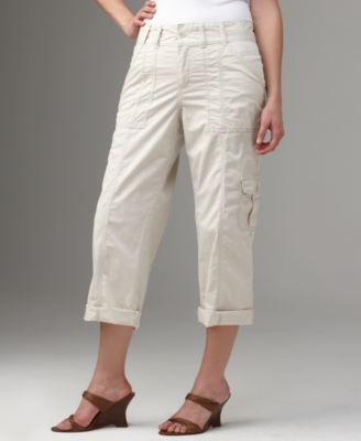 Calvin Klein Jeans Plus Size Pants, Covertible Cropped Cargo