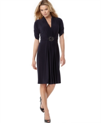 Jones New York Dress, Matte Jersey Ring Front