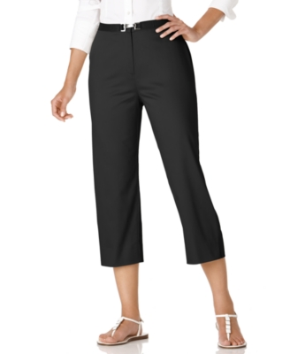 JM Collection Pants, Buckle Capri
