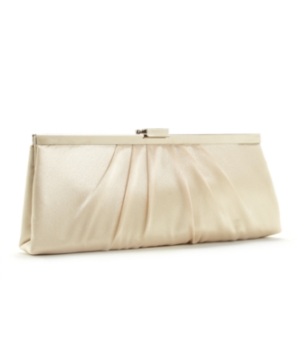 Jessica McClintock Handbag, Satin Frame Clutch - Clutches