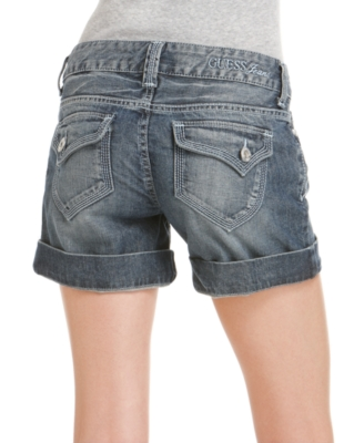 GUESS Shorts, Flirty Stretch Denim Backstage Wash