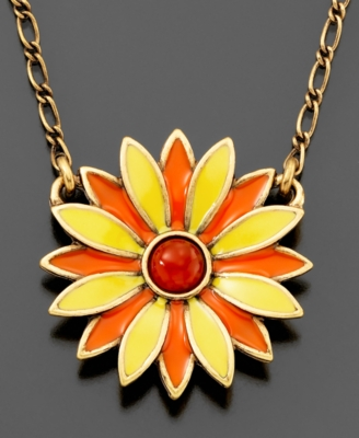 Lucky Brand Pendant, Flower - Oversized Pendant Necklace