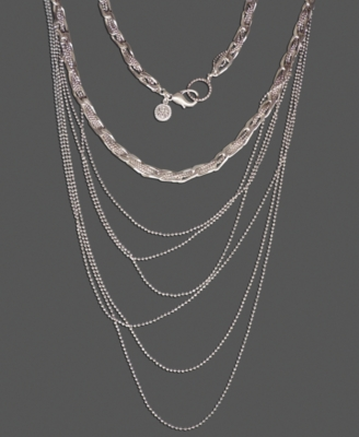 Layered Sterling Necklace - Jessica Simpson
