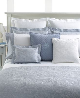 CLOSEOUT! Lauren Ralph Lauren Bedding, Pale Blue Paisley Suite ...