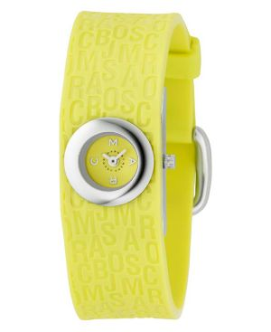 Marc by Marc Jacobs Watch, Women's Yellow Plastic Strap MBM2521