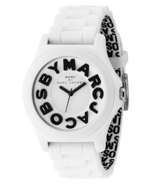 Marc by Marc Jacobs Watch, Women's Sloane White Plastic Strap MBM4005 - Marc By Marc Jacobs