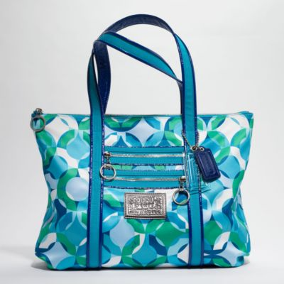 COACH POPPY KALEIDOSCOPE GLAM TOTE