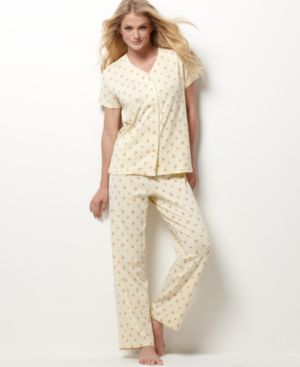 Charter Club Pajamas, Short Sleeve Button