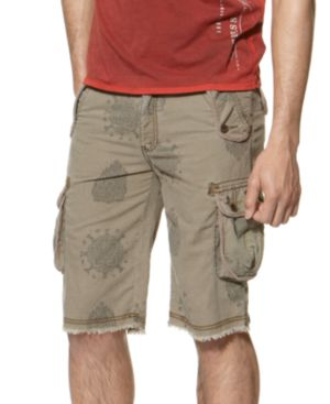 Guess Shorts, Native Print Military Cargos