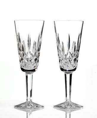 Waterford Toasting Flutes, Set of 2 Lismore