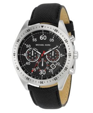 MICHAEL Michael Kors Watch, Men's Black Nylon Strap MK8138