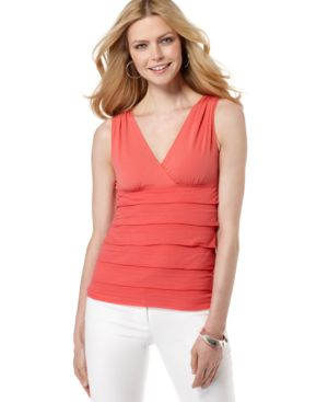 Studio M Top, Sleeveless Tiered
