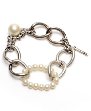 Kenneth Cole New York Bracelet, Glass Pearl Chain