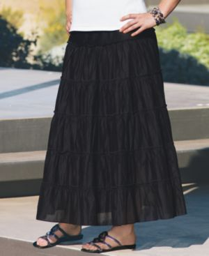Style&co. Plus Size Skirt, Tiered Maxi