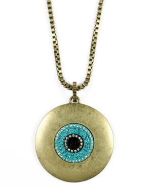 Rachel Rachel Roy Necklace, Goldtone and Blue