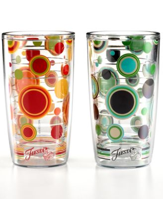 Fiesta by Tervis Drinkware, 16 oz. Dots Tumbler