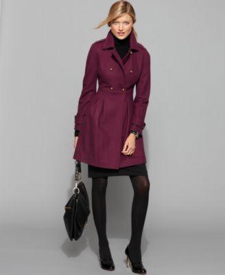 Tommy Hilfiger Coat, Long Sleeve Empire Waist