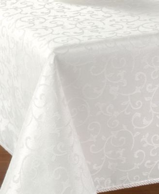 "Lenox Opal Innocence 60"" x 140"" Oblong Tablecloth"