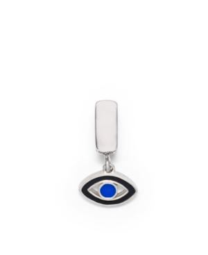Donatella Charm, Sterling Silver Blue Evil Eye Enamel Dangle Charm