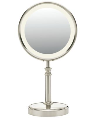 Conair BE116T Lighted Makeup Mirror, Satin Nickel