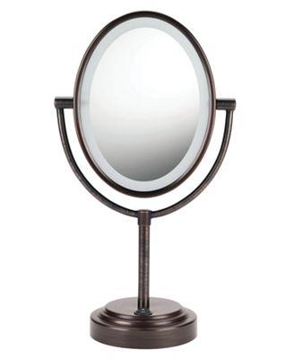 conair 7x magnified lighted makeup mirror bronze bathroom accessories b. Black Bedroom Furniture Sets. Home Design Ideas