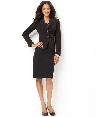 charter club two button suiting blazer pencil skirt