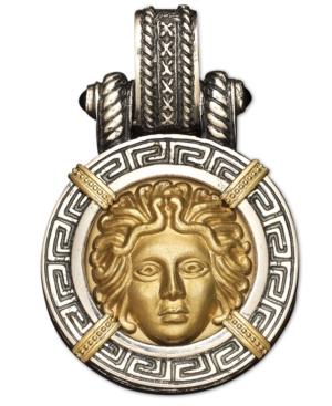 14k Gold and Sterling Silver Pendant, Medusa Enhancer