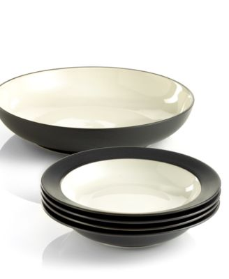 Noritake Dinnerware, Colorwave Graphite 5 Piece Pasta Set