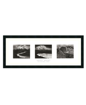 Amanti Art Wall Art, Our National Parks Triptych Framed Art Print by Ansel Adams
