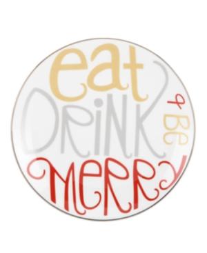 Lenox Serveware, Set of 4 Eat Drink Be Merry Dessert Plates
