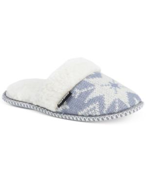 Muk Luks Women's Fair Isle Knit Scuff Slippers
