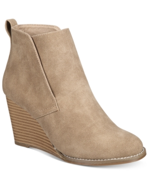 Nautica Calyan Slip-On Wedge Booties Women's Shoes