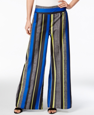 1930s Women's Pants and Beach Pajamas Bar Iii Striped Wide-Leg Pants Only at Macys $34.99 AT vintagedancer.com