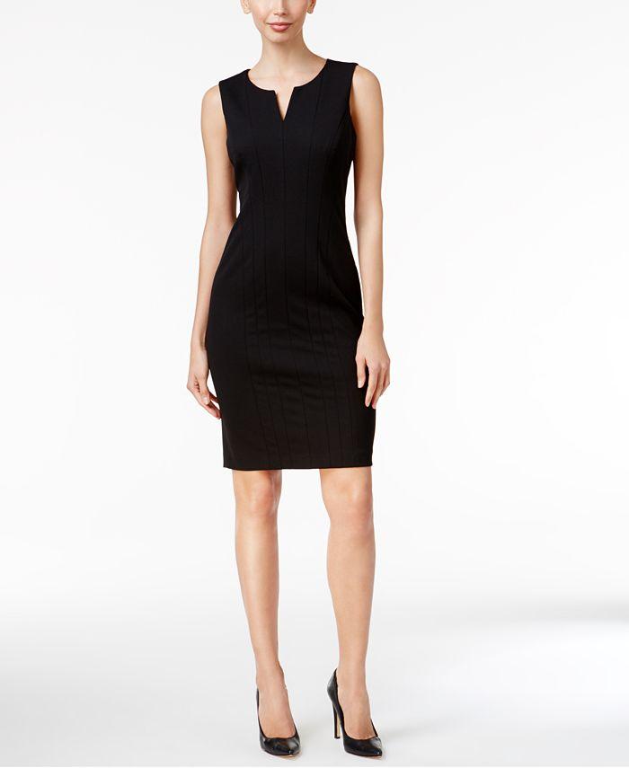 Calvin Klein - Petite Split-Neck Sheath Dress