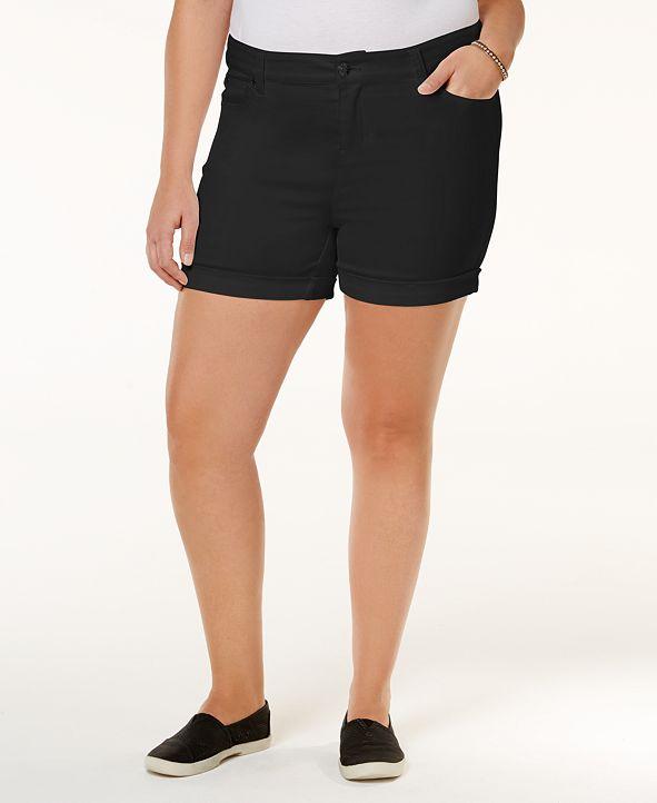 Celebrity Pink Trendy Plus Size High-Waisted Denim Shorts