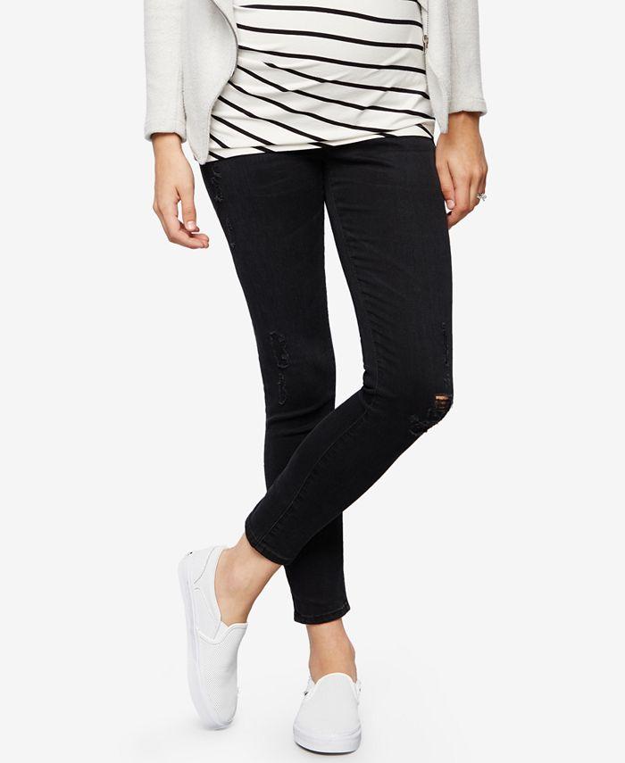 AG Jeans - Maternity Black-Wash Skinny Jeans