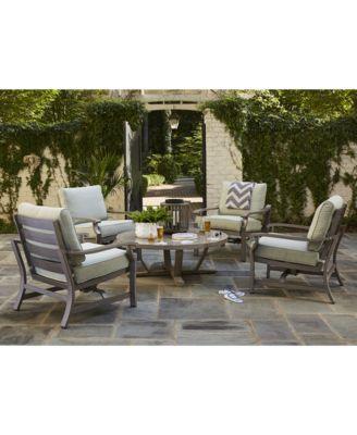 Tara Aluminum Outdoor Rocker Chair, with Sunbrella® Cushions, Created for Macy's