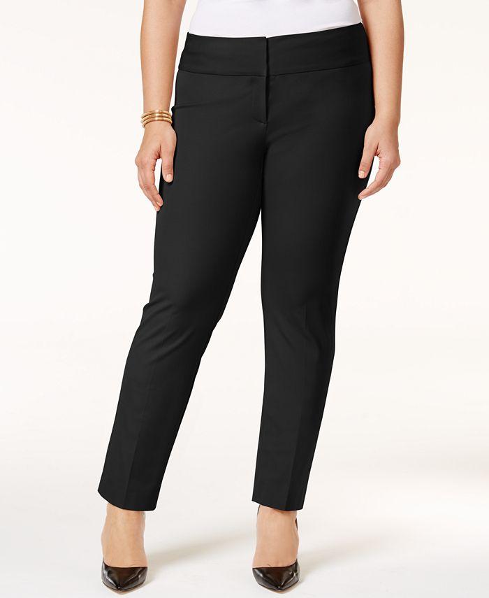 Alfani - Petite Plus Size Straight-Leg Pants