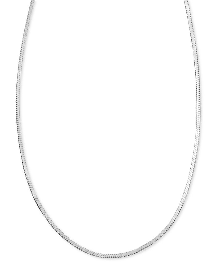 """Giani Bernini - Sterling Silver Necklace, 20"""" Square Snake Chain"""