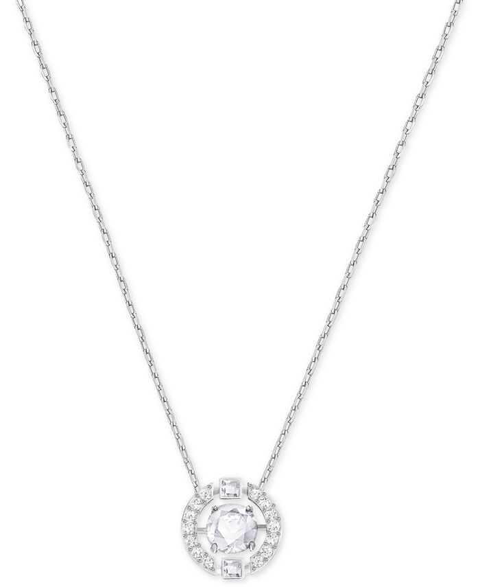 Floating Crystal Pendant Necklace