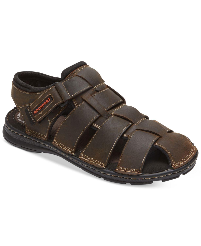 Rockport Men's Darwyn Closed-Toe Fisherman Sandals & Reviews - All Men's Shoes - Men - Macy's