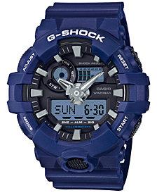 G-Shock Men's Analog-Digital Blue Resin Strap Watch 54mm GA700-2A