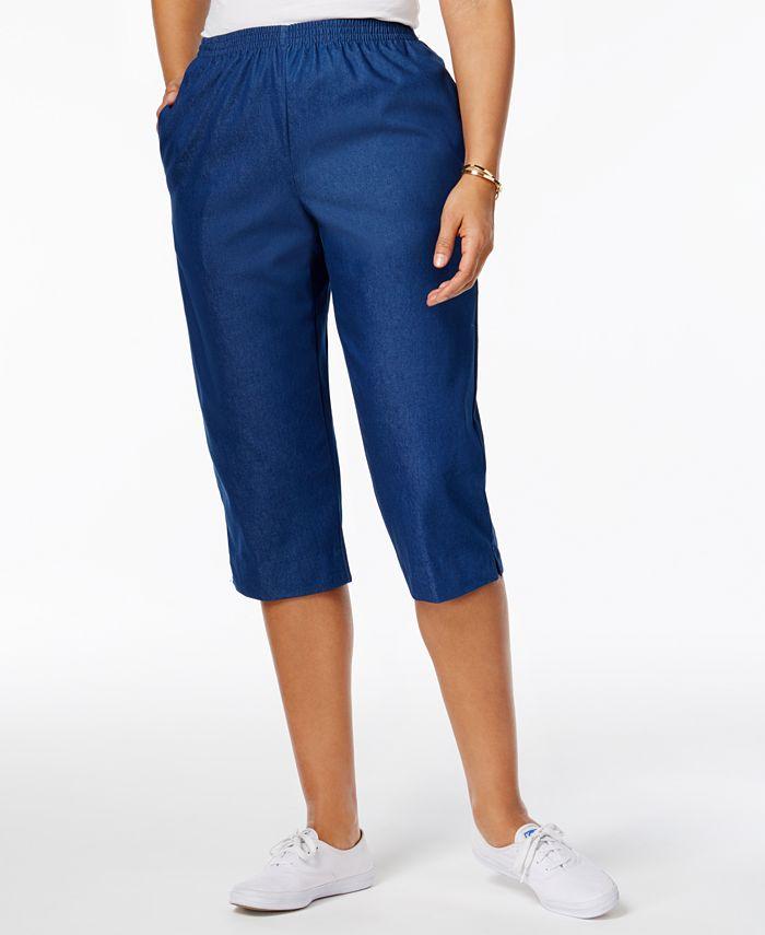 Alfred Dunner - Petite Pull-On Capri Jeans