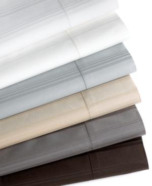 Hotel Collection Bedding, 600 Thread Count Stripe King Fitted Sheet Bedding