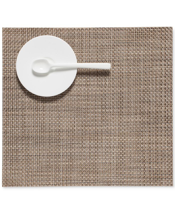 Chilewich Square Basketweave Woven 13 X 14 Vinyl Placemat Reviews Table Linens Dining Macy S