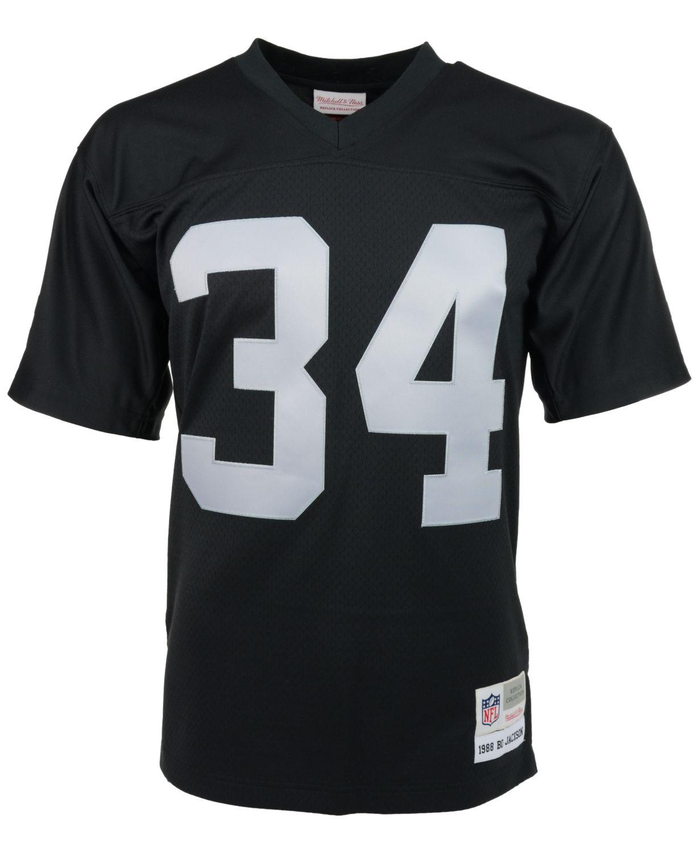 Mitchell & Ness Men's Bo Jackson Los Angeles Raiders Replica Throwback Jersey & Reviews - Sports Fan Shop By Lids - Men - Macy's
