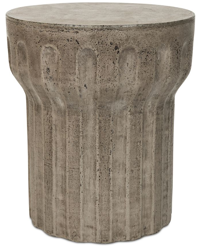 Safavieh - Petell Outdoor Accent Table, Quick Ship