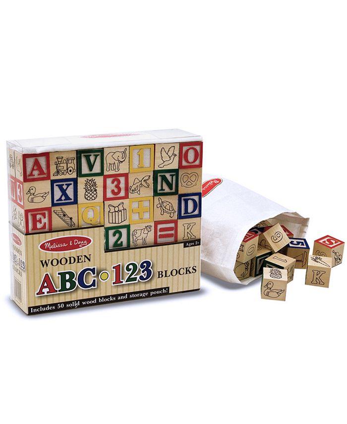 Melissa and Doug - Toy, Wooden ABC/123 Blocks
